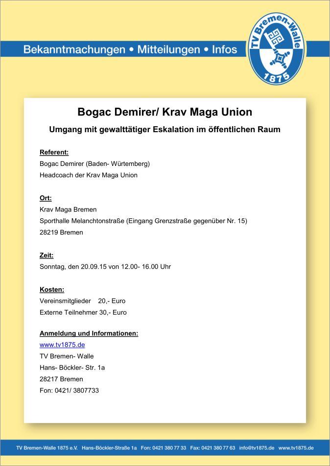 Ausschreibung Seminar Bogac Demirer